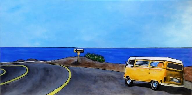 """""""Holyday Road"""" 320€ - 100x50 cm - Acrylique/Gouache/Encre"""