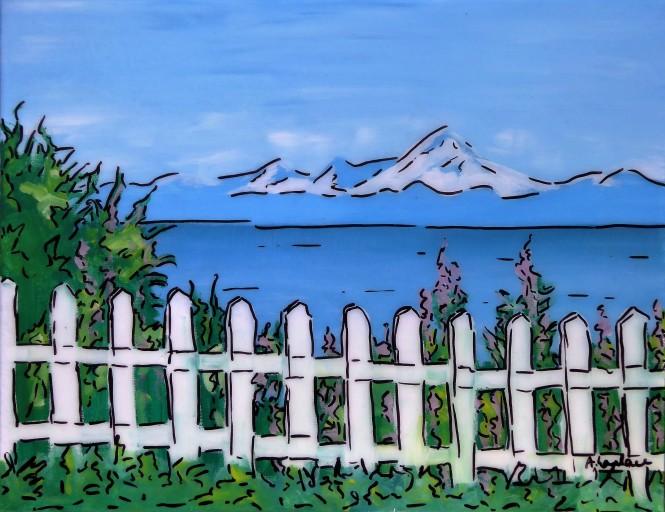 Tableau de route d'Angelique Laplace. Artiste peintre de voyage à Perpignan.